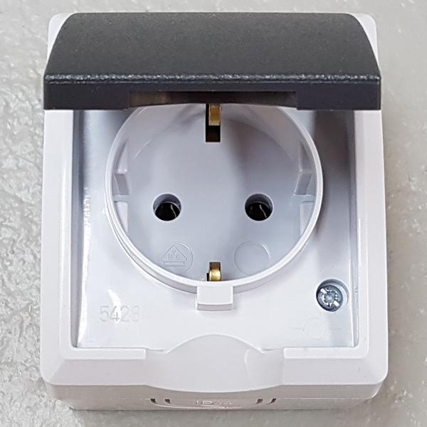 rev ritter aqua form feuchtraum aufputz steckdose wechsel schalter taster ip44 ebay. Black Bedroom Furniture Sets. Home Design Ideas