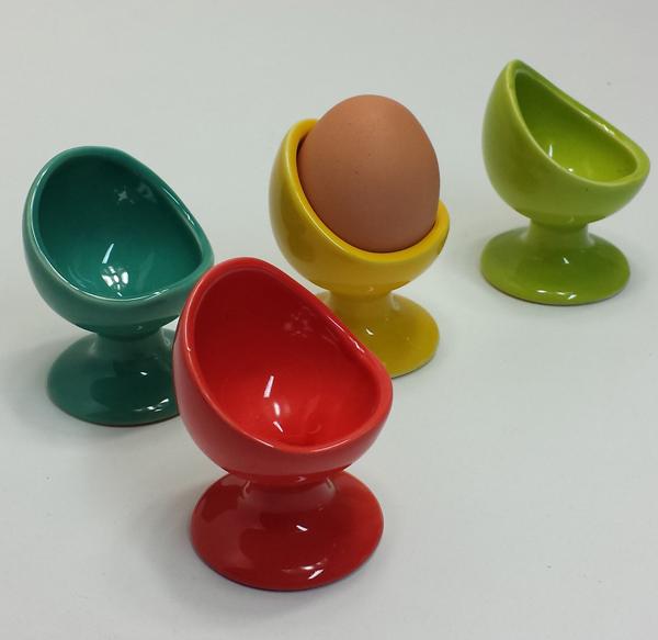 4x eierbecher bunt 4 st ck keramik oster eier becher im for Bunte barhocker