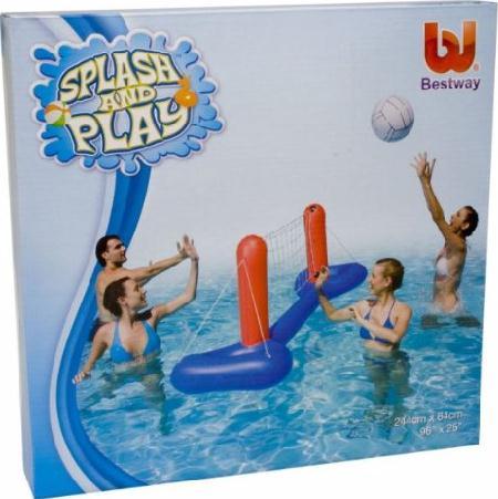 wasser volleyballset pool volleyball set bestway 52133 ebay. Black Bedroom Furniture Sets. Home Design Ideas