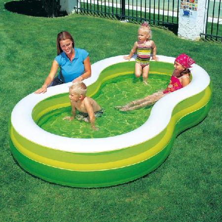 bestway pool 274x157x46 planschbecken gr n wei 54046 ebay. Black Bedroom Furniture Sets. Home Design Ideas