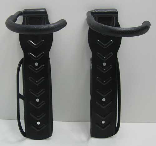 fahrradwandhalter 2x halterung metall fahrrad aufh ngung haken wand halter set ebay. Black Bedroom Furniture Sets. Home Design Ideas