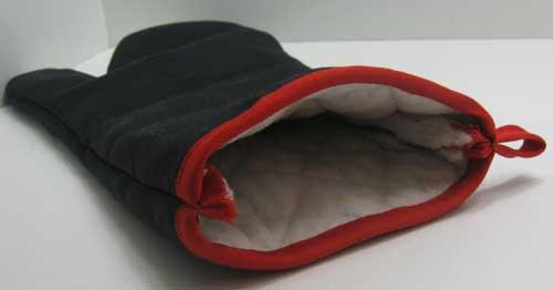 grillhandschuh baumwolle extra lang grill kamin ofen handschuh schwarz und rot ebay. Black Bedroom Furniture Sets. Home Design Ideas