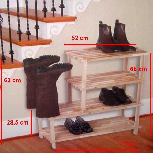 stiefel und schuhregal holz schuh regal schrank ablage aufbewahrung 4 st ckig ebay. Black Bedroom Furniture Sets. Home Design Ideas