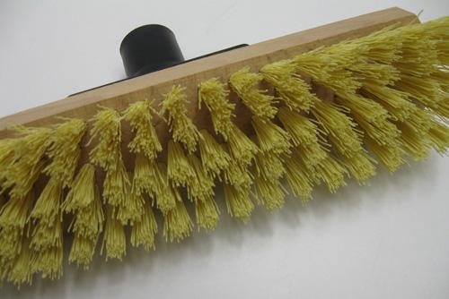 schrubber aus holz mit harten kunststoff borsten scheuer boden b rste ebay. Black Bedroom Furniture Sets. Home Design Ideas