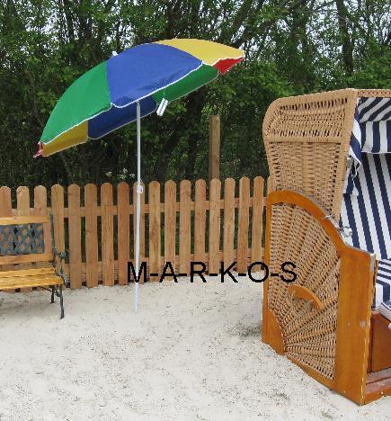 Len Schirm sonnenschirm mit knickgelenk metall strandschirm regenbogen sonnen strand schirm ebay