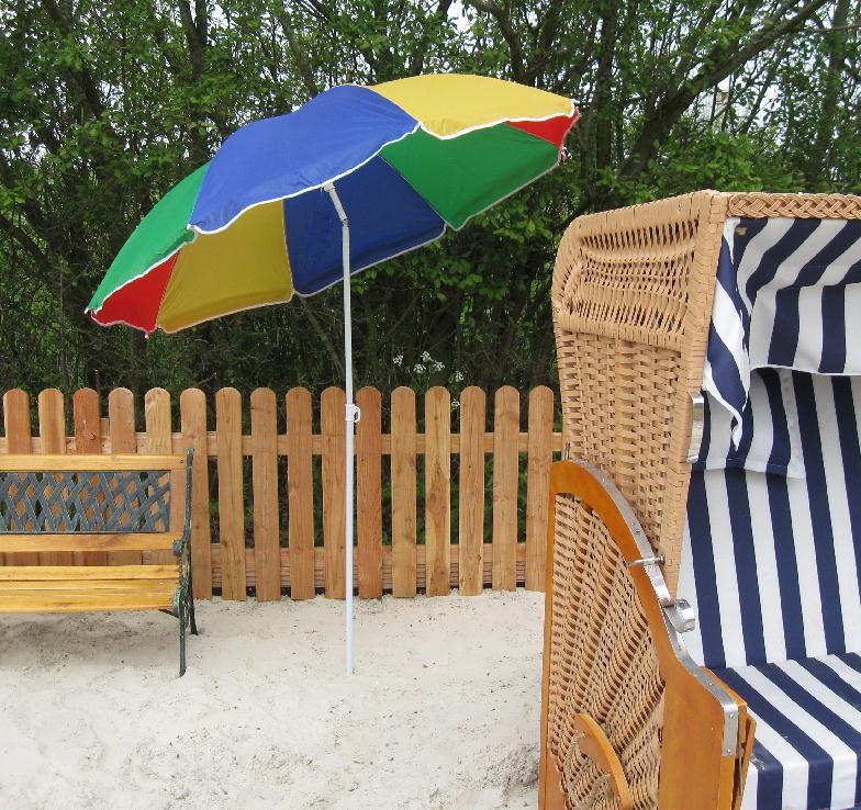 sonnenschirm mit knickgelenk metall strandschirm regenbogen sonnen strand schirm ebay. Black Bedroom Furniture Sets. Home Design Ideas