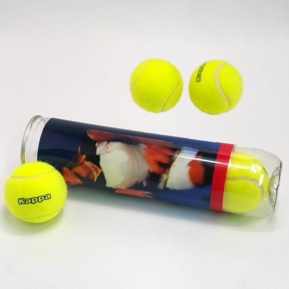 Kappa Tennisbälle 12 Stk Spielball Ball Tennis DTB Tennisball mit Gas ATP Set
