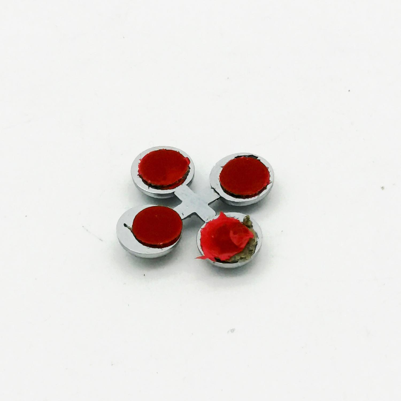 3D Chrom Aufkleber Logo Punkte Dots Verzierung Auto KFZ Symbol Emblem Wasserfest